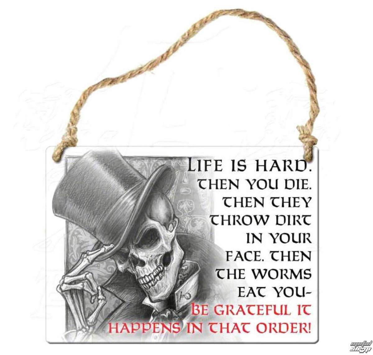 cedulka ALCHEMY GOTHIC - Life Is Hard