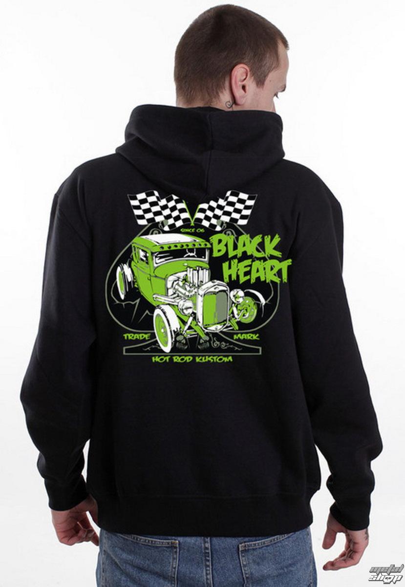 mikina pánská BLACK HEART - Monster Green - Black - BH090