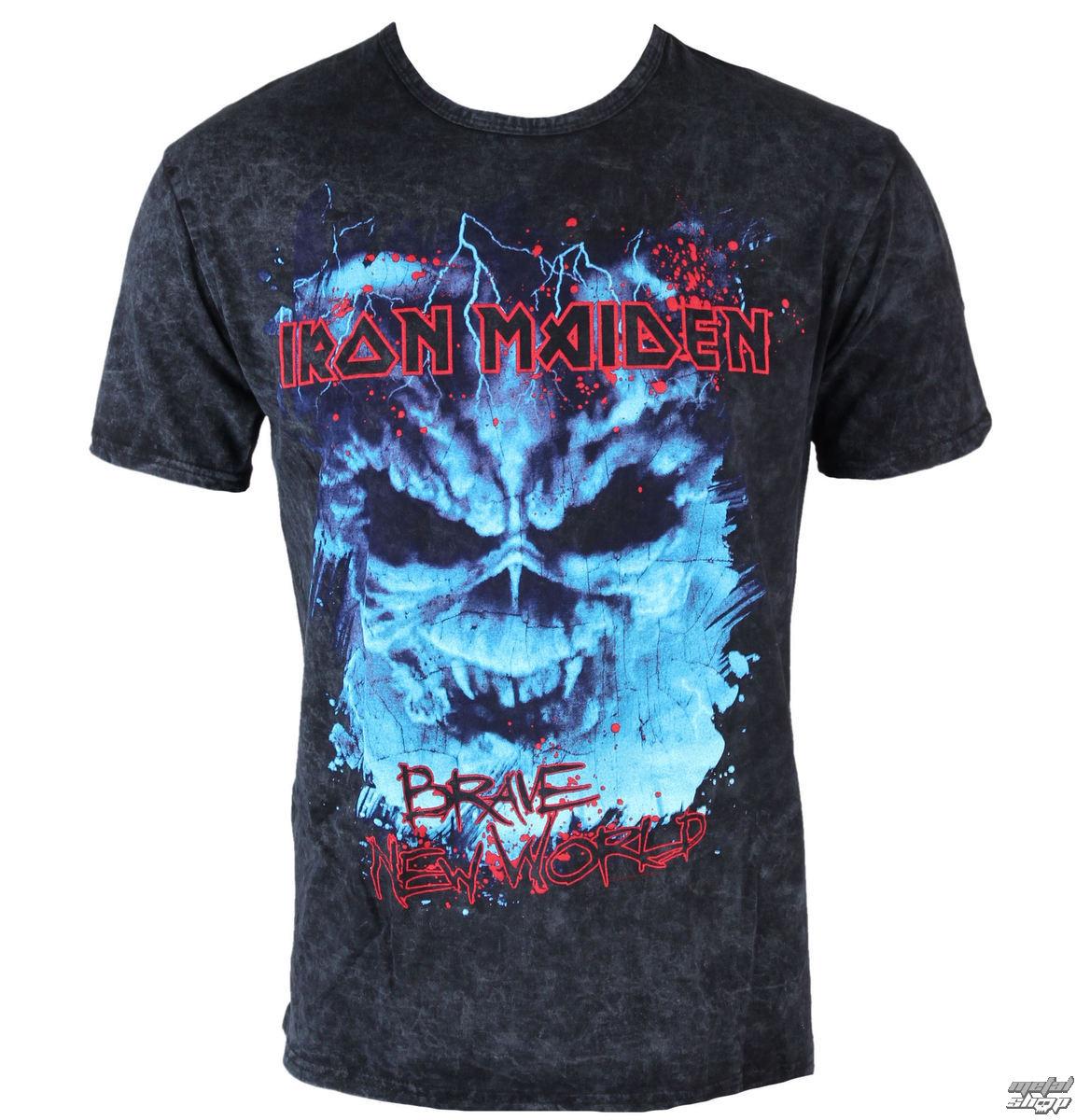 tričko pánské Iron Maiden - Brave New World Puff - ROCK OFF - IMPRT01MB