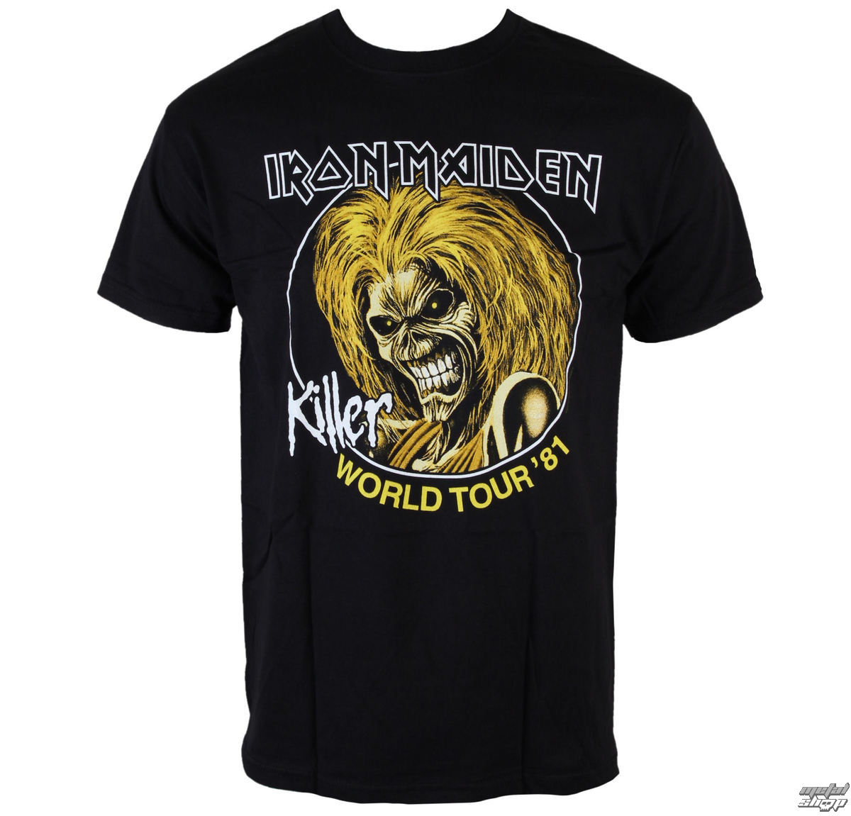 tričko pánské Iron Maiden - Killers World Tour 81 - Blk - ROCK OFF