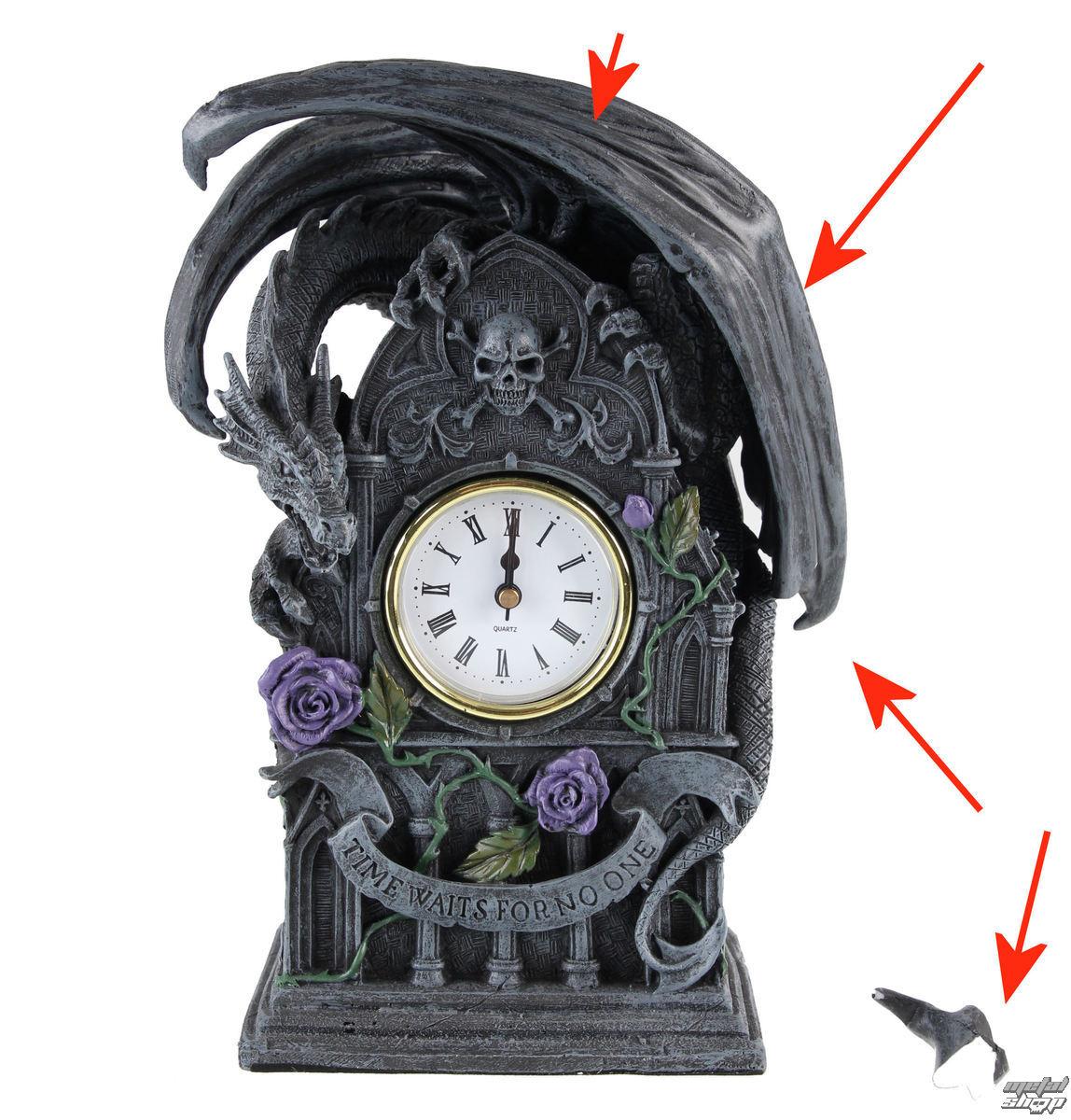 hodiny (dekorace) Dragon Beauty – POŠKOZENÉ - N198