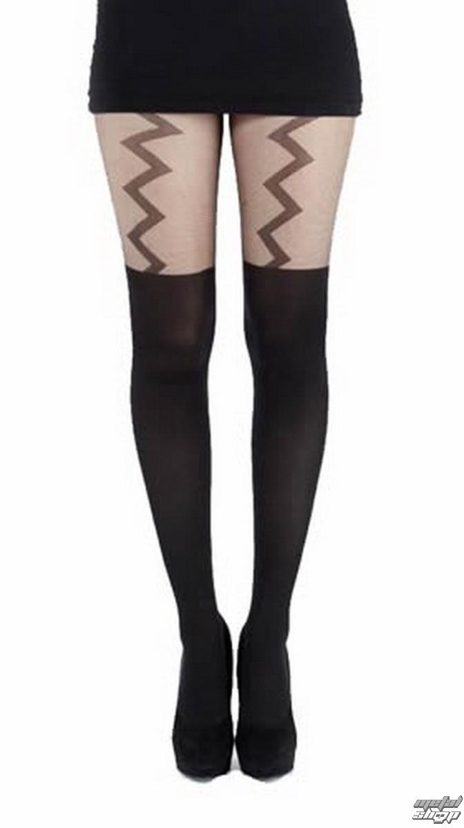 punčocháče PAMELA MANN - Lightning Suspender - Black - PM258