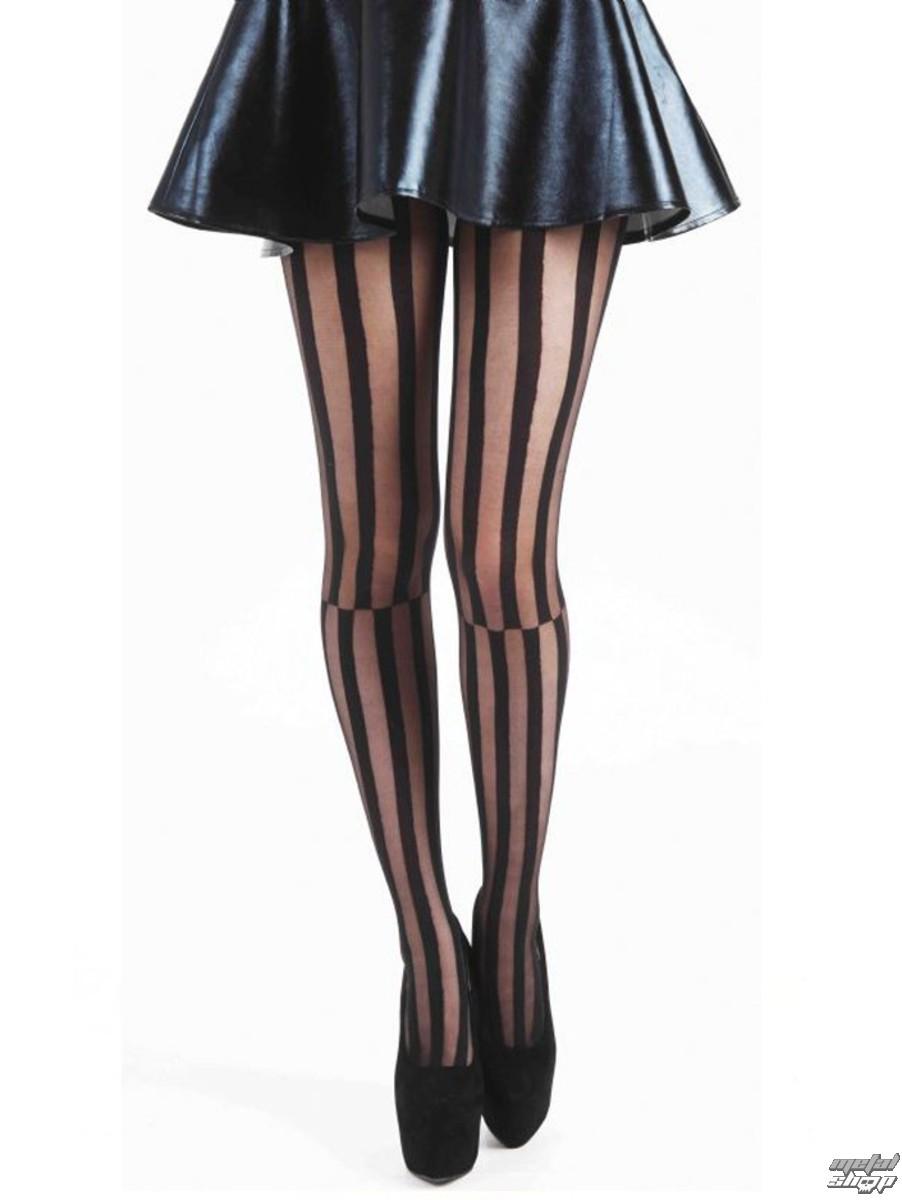 punčocháče PAMELA MANN - Mismatched Stripe - Black - PM251