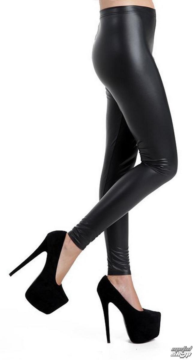 kalhoty dámské (legíny) PAMELA MANN - Leather Look - Black - PM223
