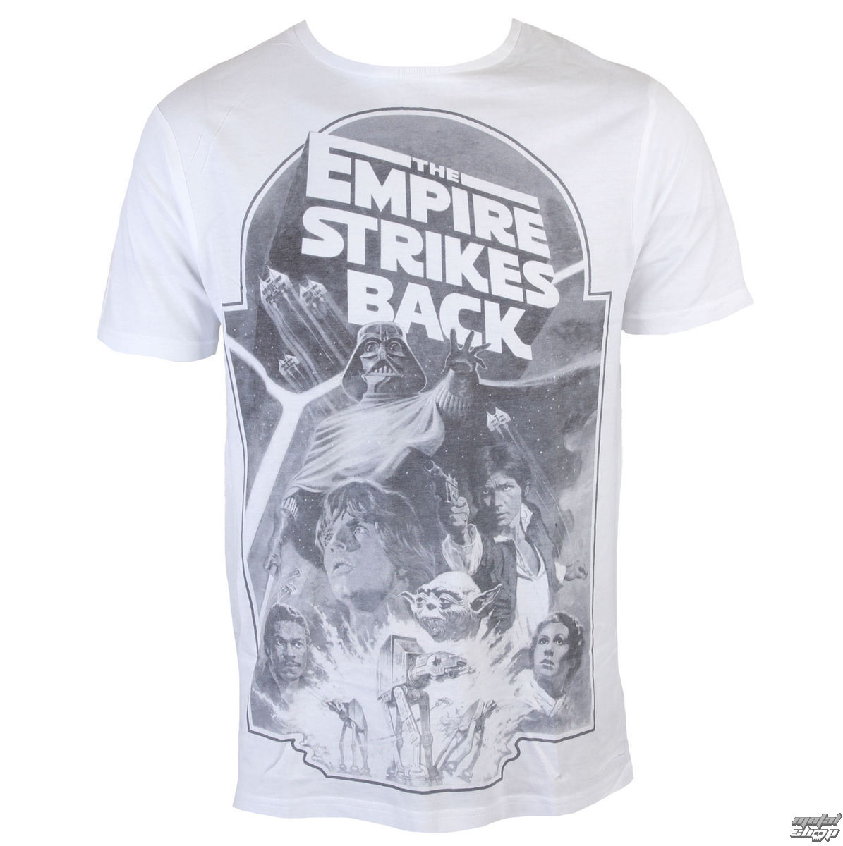 tričko INDIEGO Star Wars Empire Strikes Back Sublimation šedá bílá S