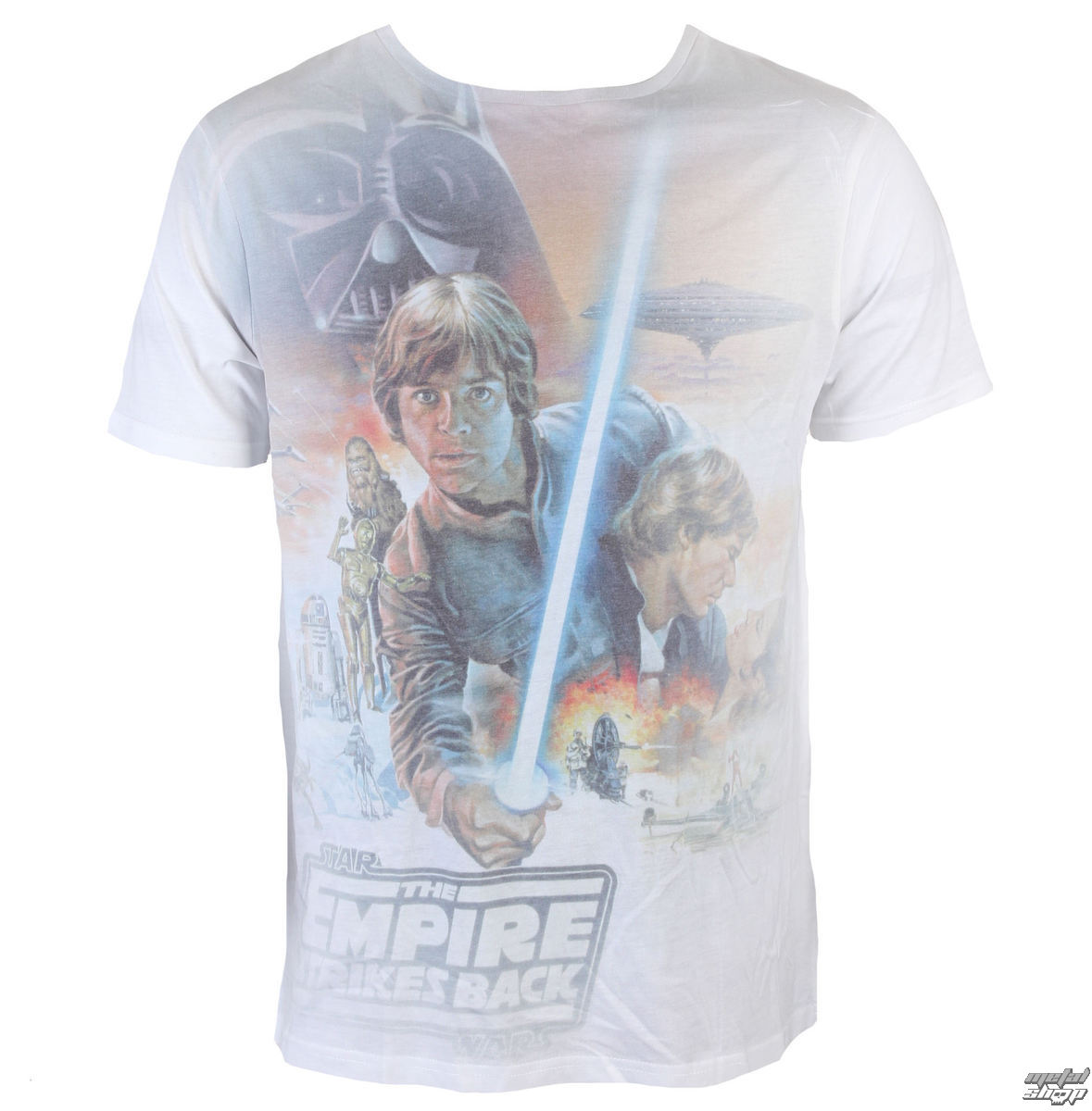 tričko INDIEGO Star Wars Luke Skywalker Sublimation šedá bílá S