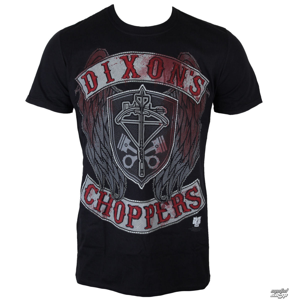 tričko pánské The Walking Dead - Dixons Choppers - Black - INDIEGO