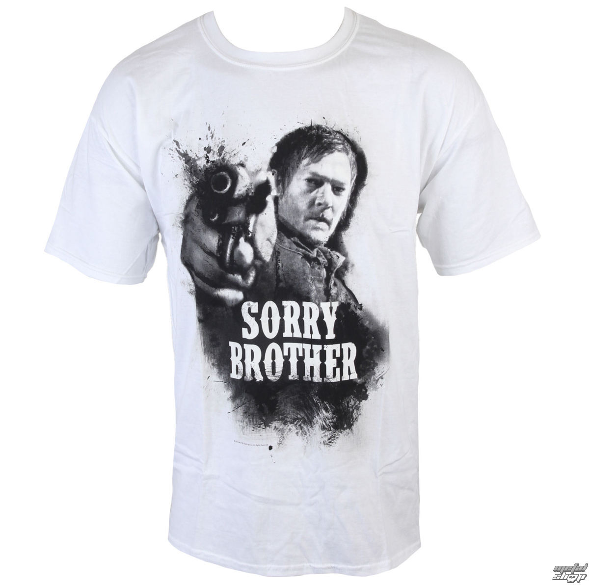 tričko pánské The Walking Dead - Sorry Brother - White - INDIEGO