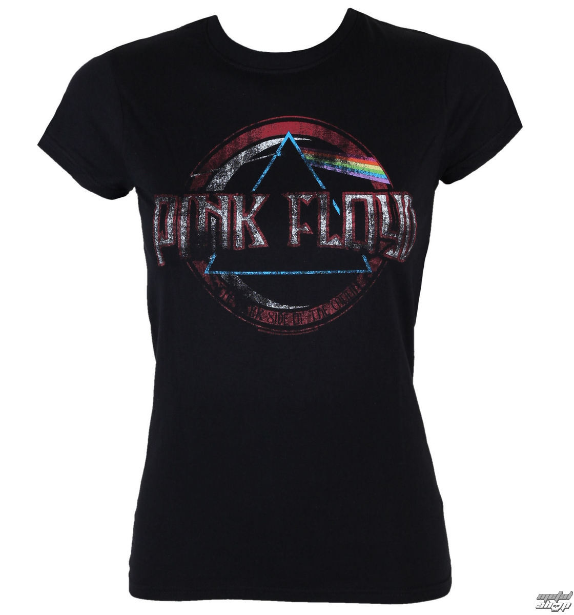 tričko dámské PINK FLOYD - Dark side of the moon new logo - BLK - LOW FREQUENCY - PFGS05001