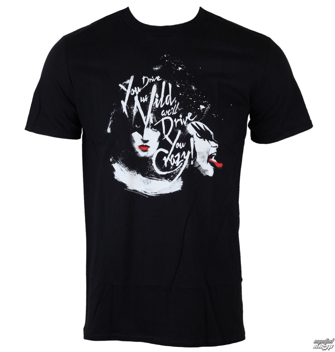 tričko pánské KISS - Kiss loving ass - BLK - LOW FREQUENCY - KITS05007