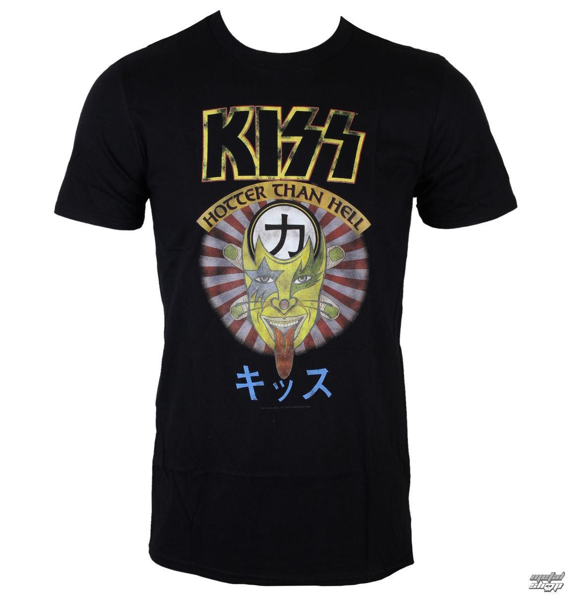 tričko pánské KISS - Hotter Than Hell - BLK - LOW FREQUENCY - KITS05009