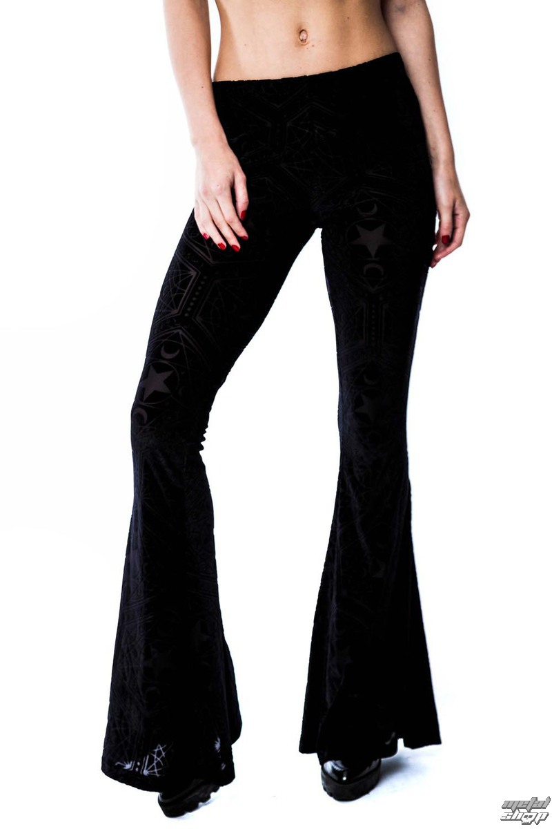 kalhoty dámské (legíny) KILLSTAR - Stargazer Velvet - Black - KIL091