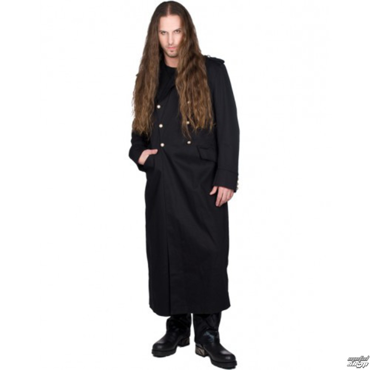 kabát pánský BLACK PISTOL - Army Coat Denim - BLACK - B-7-07-001-00