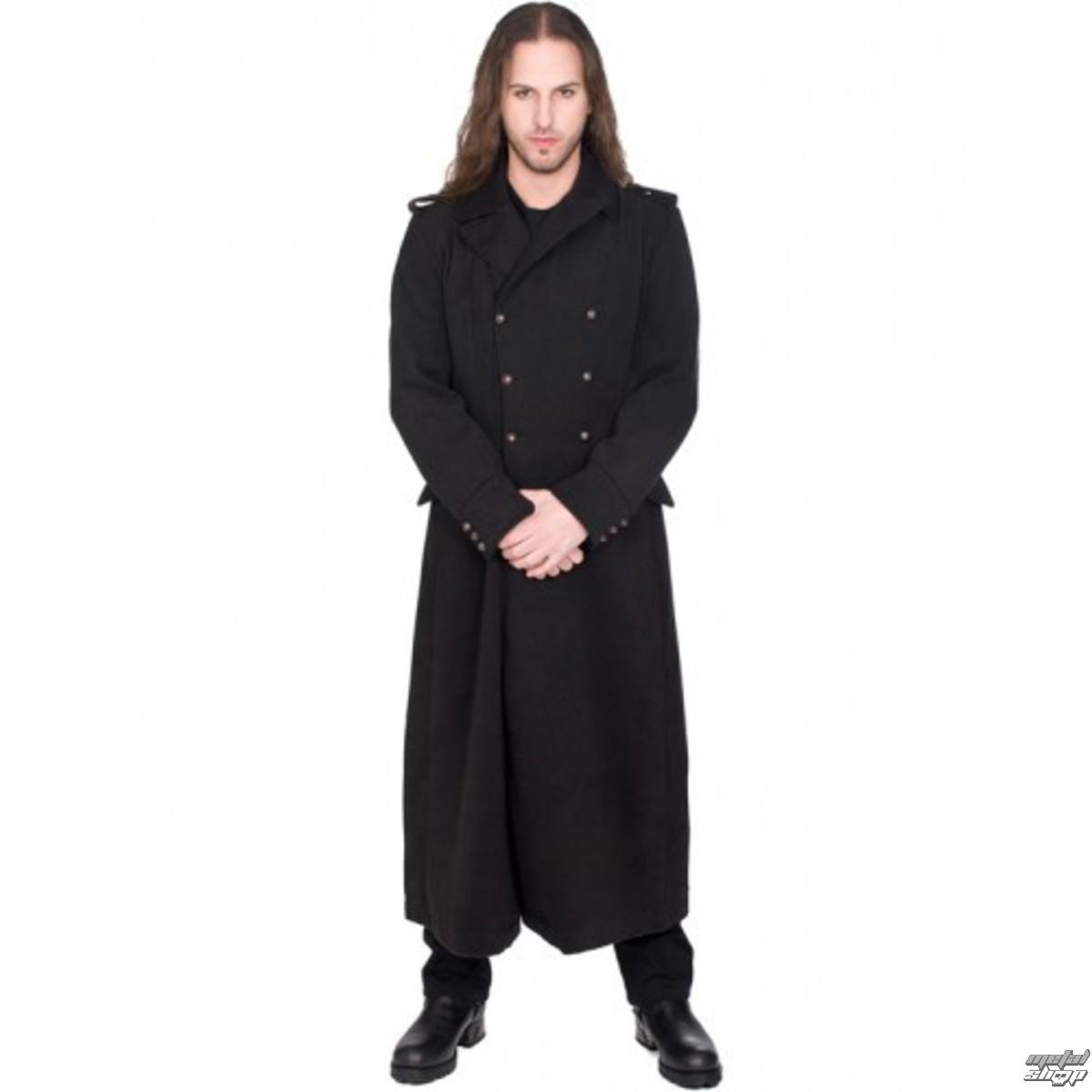 kabát pánský BLACK PISTOL - Army Coat Wool - BLACK - B-7-07-064-00