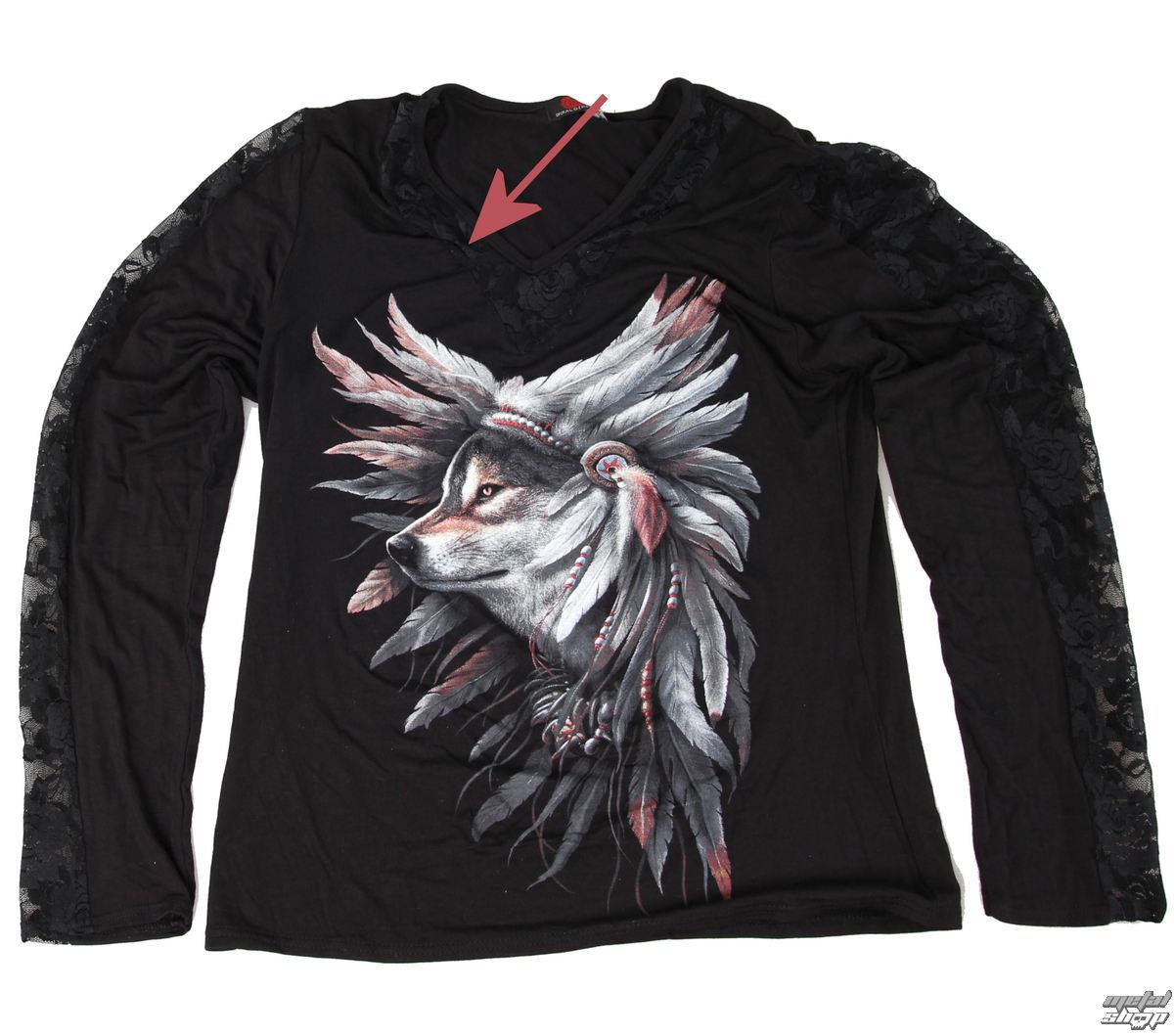 tričko dámské s dlouhým rukávem SPIRAL - Spirit Of The Wolf - POŠKOZENÉ - N441