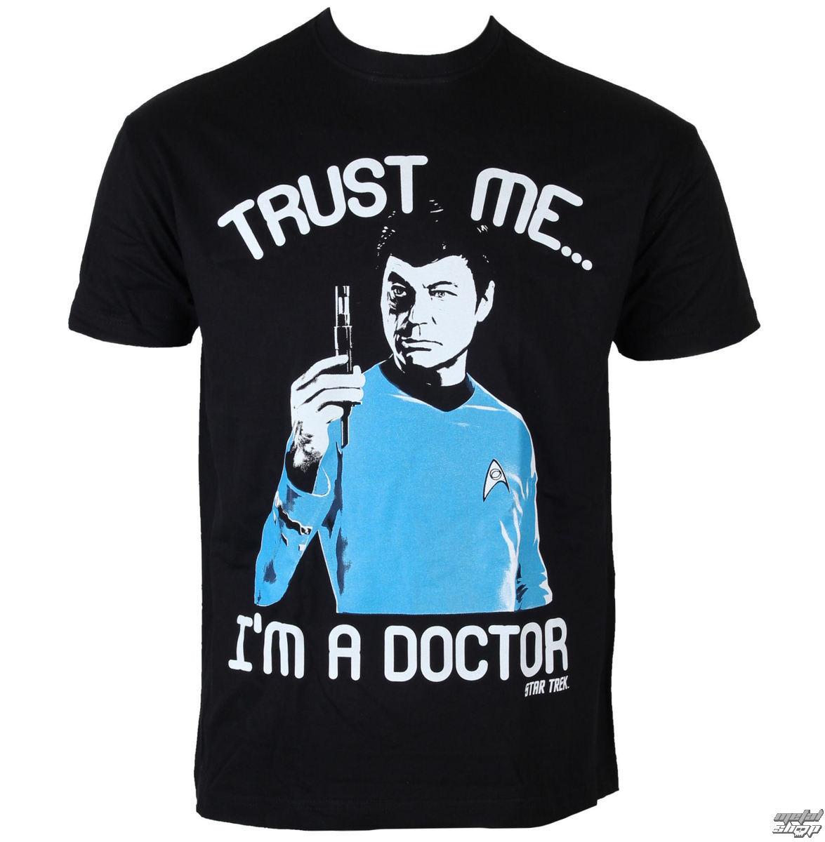 tričko pánské Star Trek - Trust Me-I´m A Doctor - Black - HYBRIS - CBS-1-ST015-H40-13