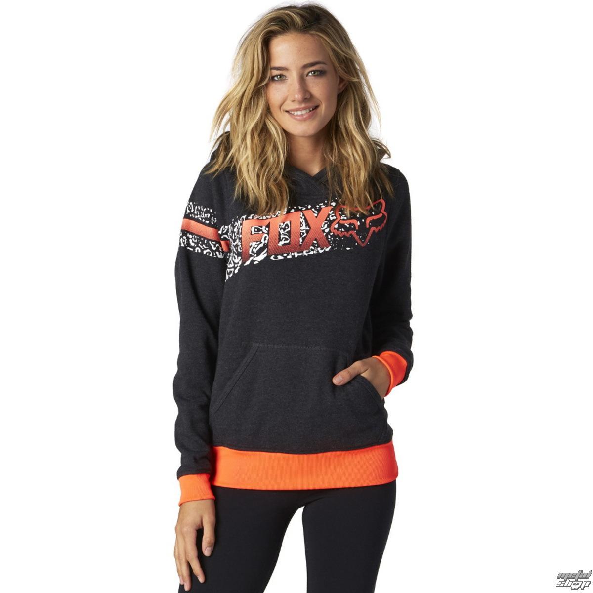 mikina dámská FOX - Cauz Po - Heather Black - 16174-243