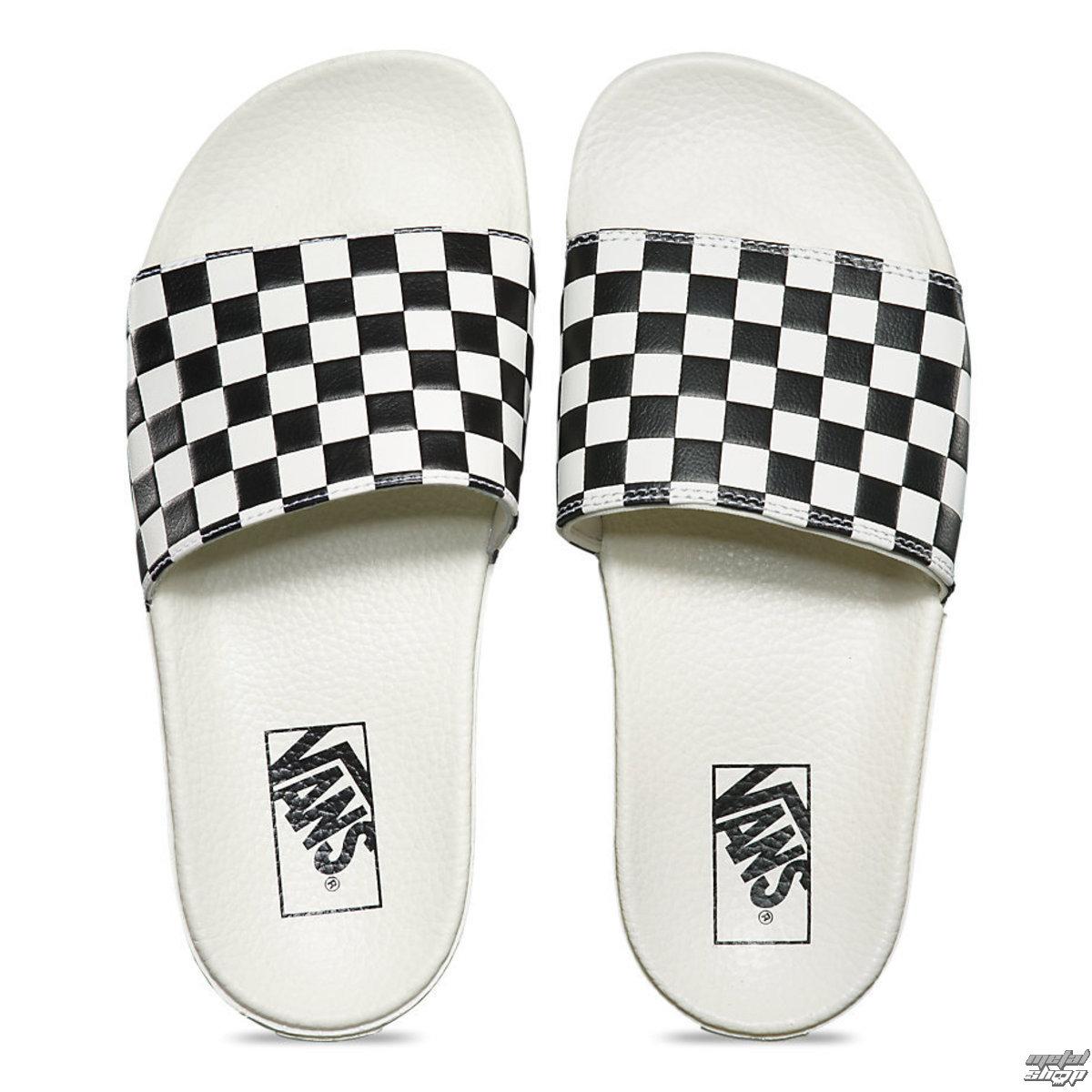 sandály dámské VANS - Slide-On (Checkerboard) - White/Black - V4LG27K