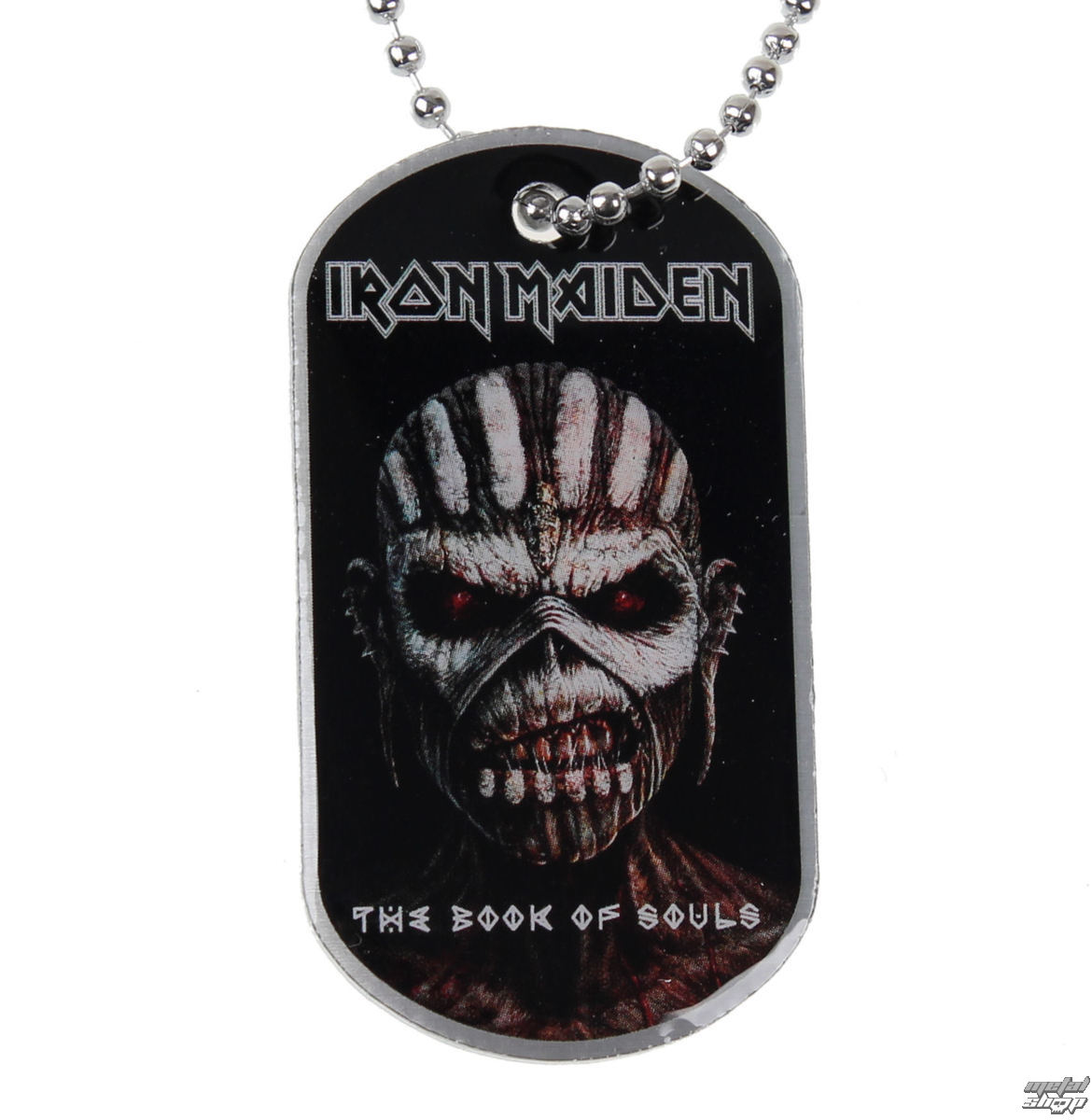 obojek (psí známka) Iron Maiden - The Book Of Souls - RAZAMATAZ - DT070