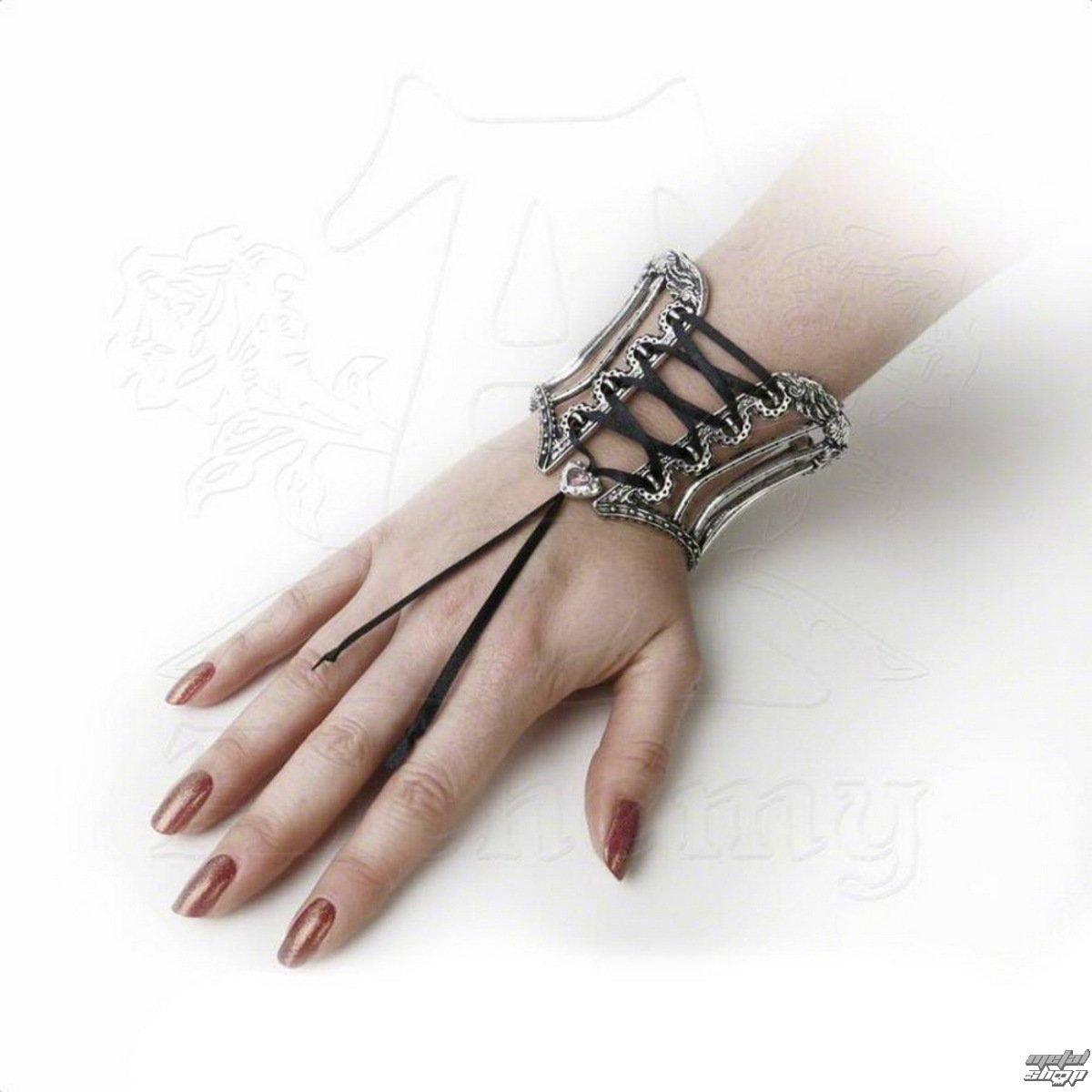 náramek ALCHEMY GOTHIC - Tightlace Corset Bangle - A112