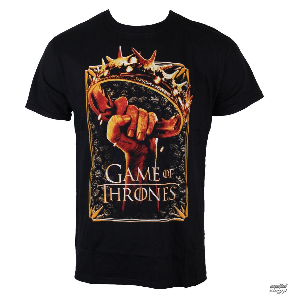 tričko pánské Hra o trůny - Crown Logo - Black - LIVE NATION - GTTS2022