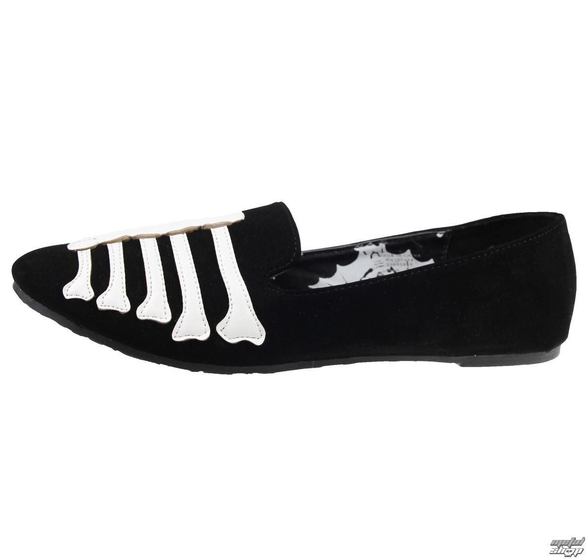 boty dámské (baleriny) IRON FIST - Wishbone Loafer Flat - Black - IFW004394