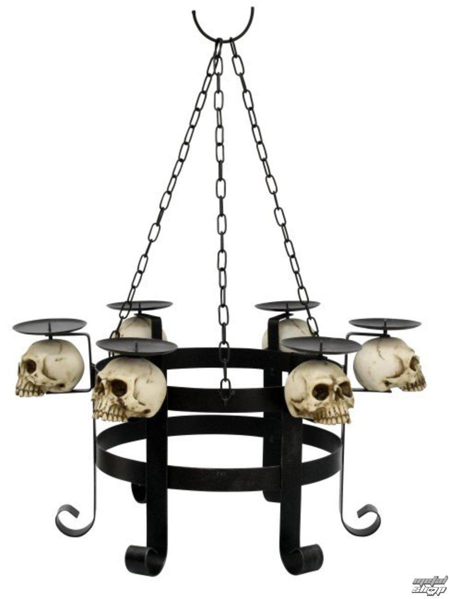 lustr na svíčky Skull - 766-6970