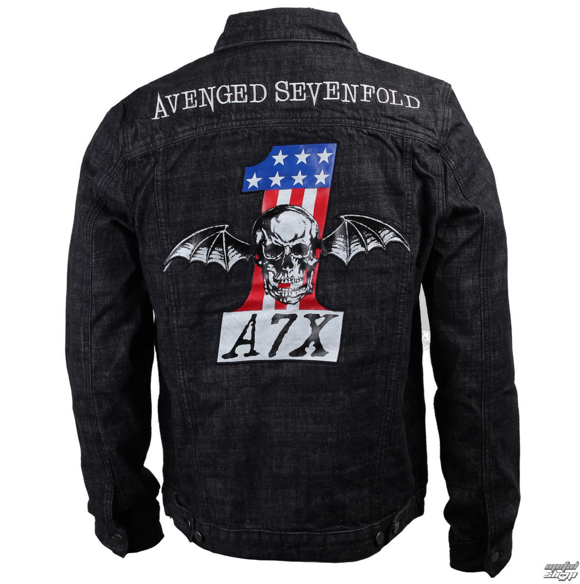 bunda pánská Avenged Sevenfold - No. 1 Denim - BRAVADO - 17952136