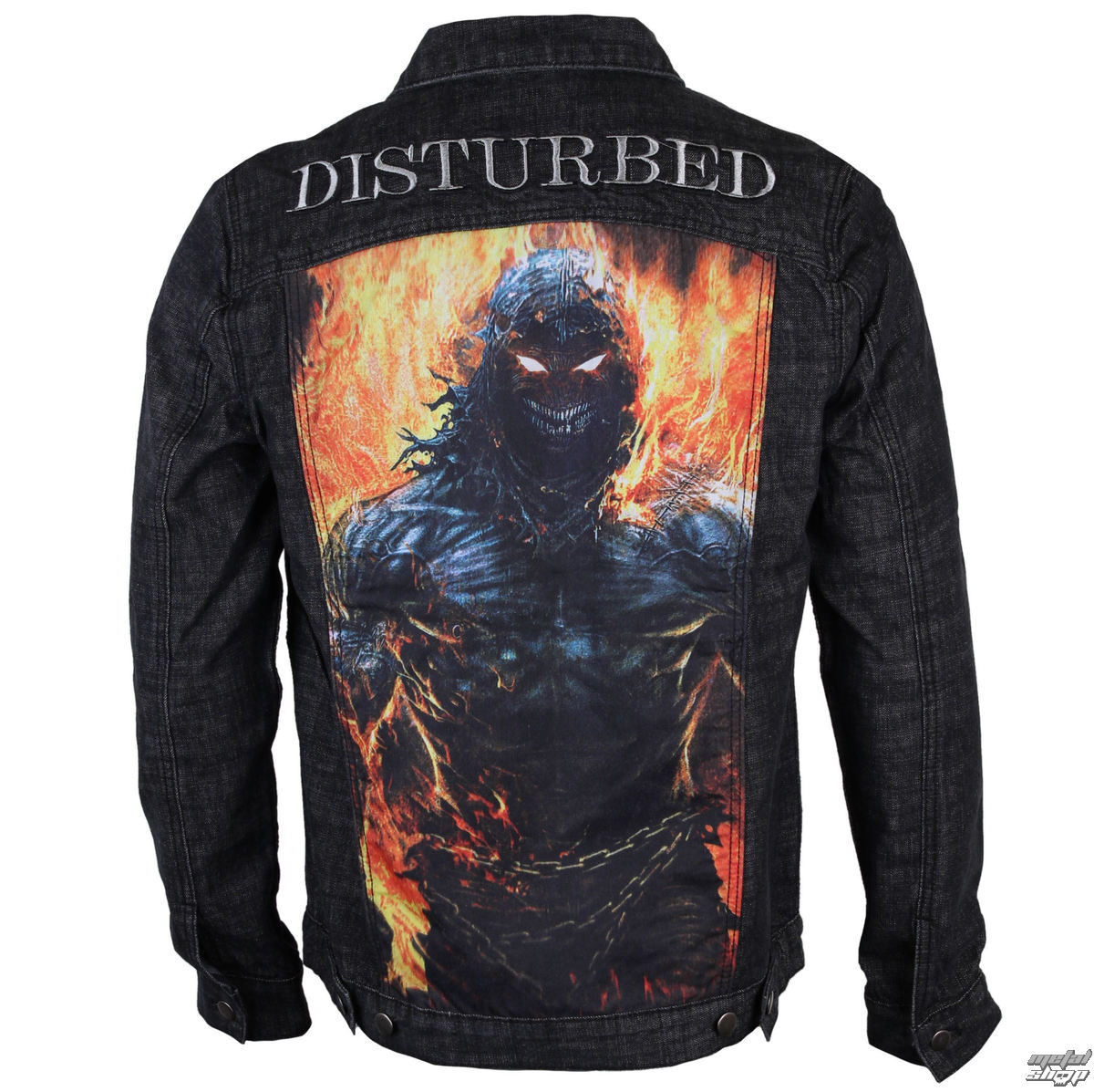 bunda pánská Disturbed - In Destruct - Denim - BRAVADO - 20442037