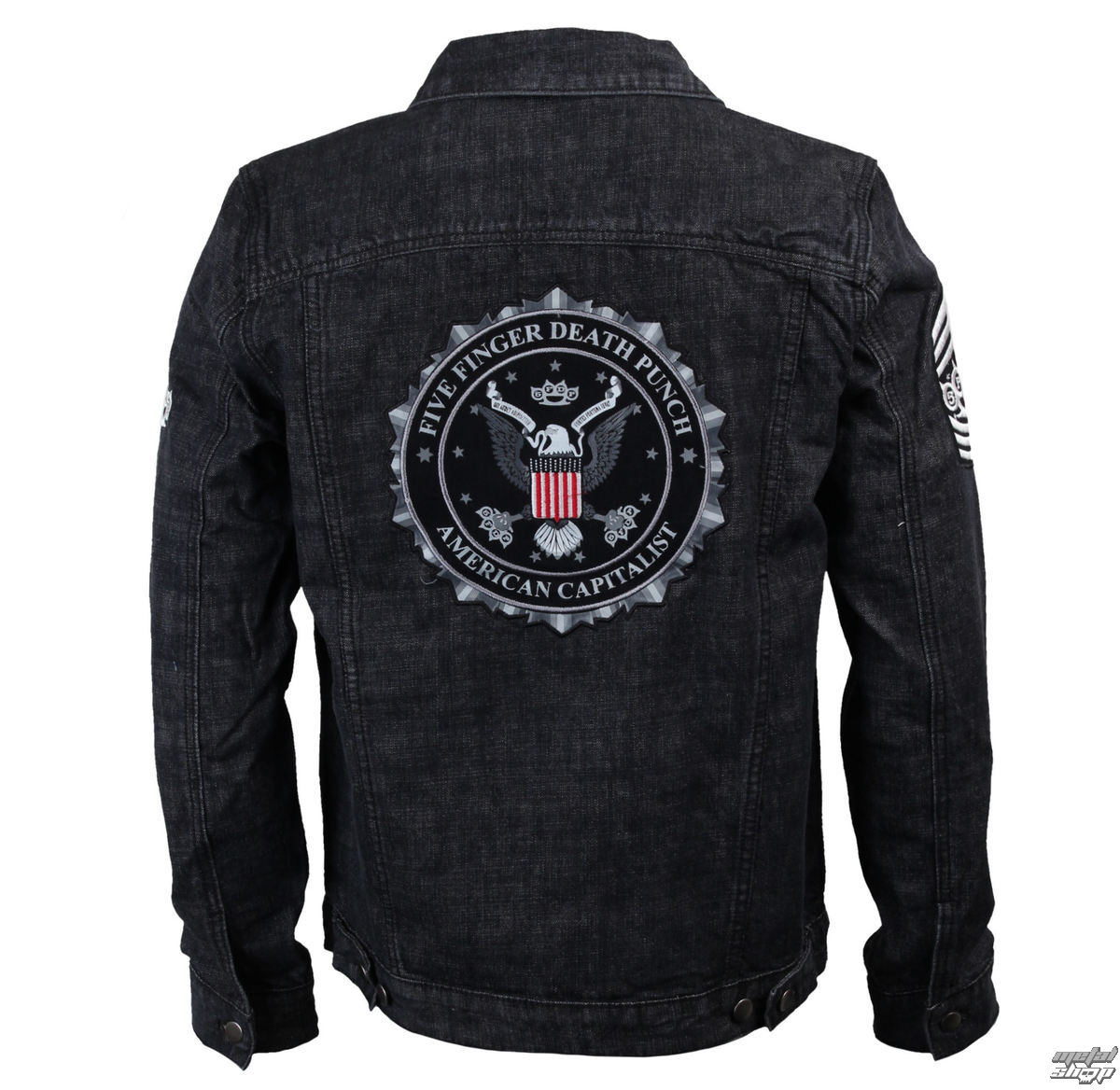 bunda pánská Five Finger Death Punch - Eagle - Denim - BRAVADO - 19912028