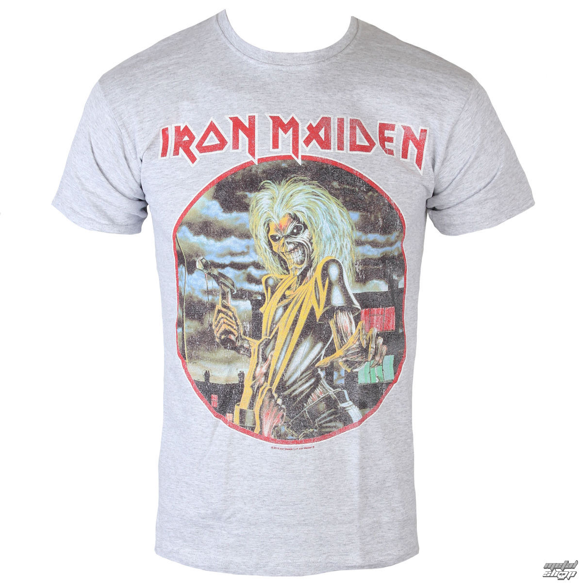 tričko pánské Iron Maiden - Killers - Cirlcle - Heather - ROCK OFF