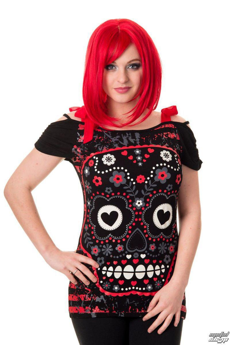 tričko dámské BANNED - OBN133R/BLK/RED