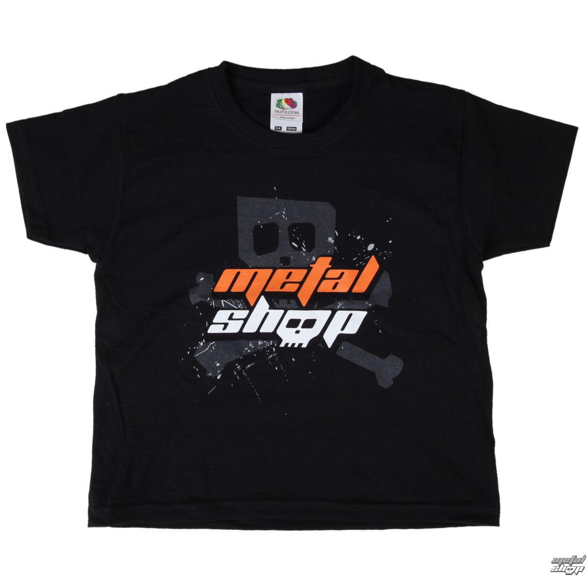 tričko dětské Metalshop - Black - MS016