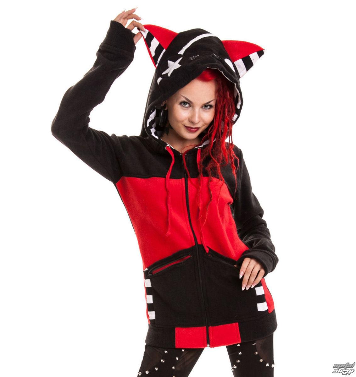 mikina dámská POIZEN INDUSTRIES - Star Kitty - Black/Red - POI107