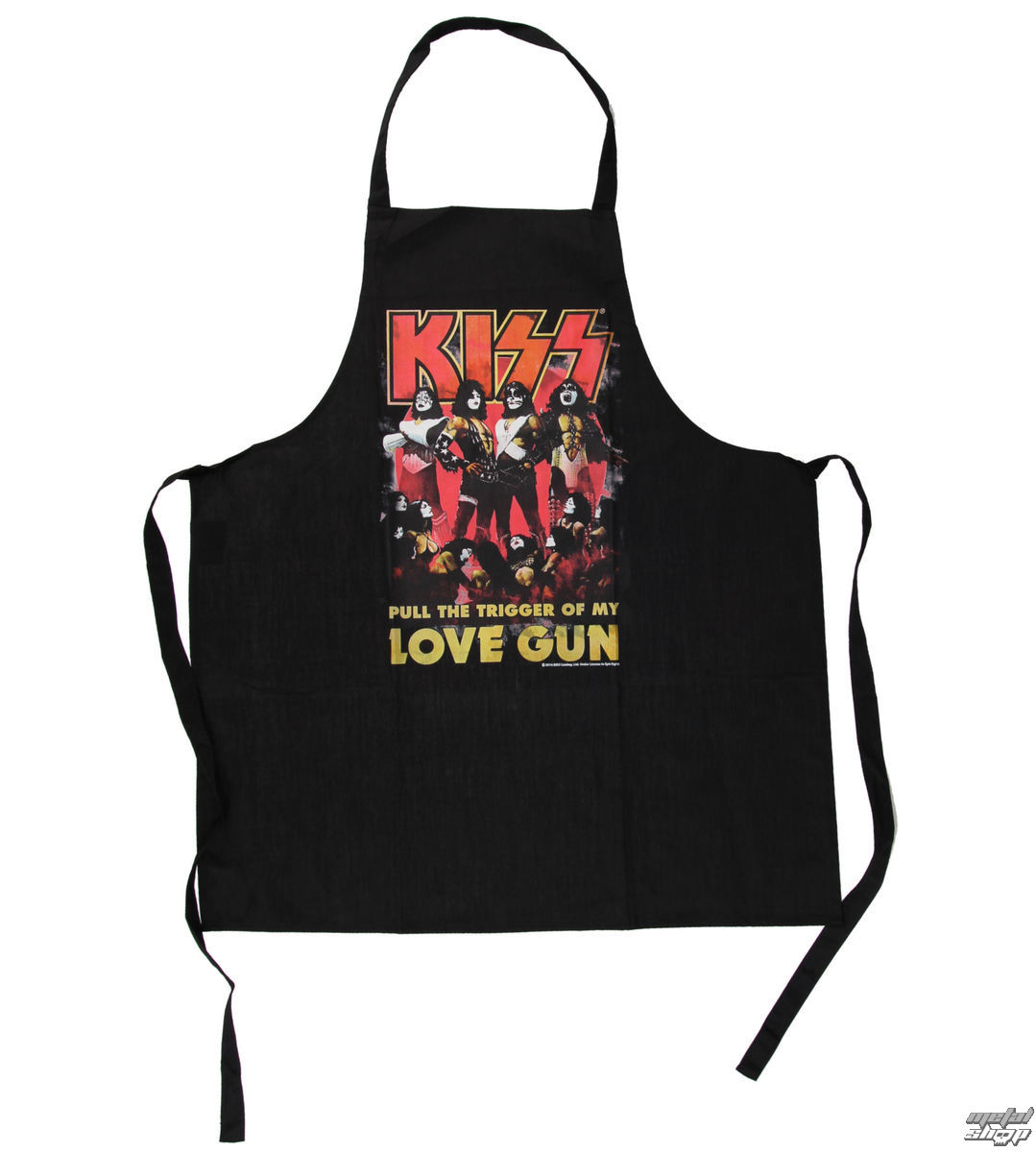 zástěra LOW FREQUENCY Kiss Love Gun Apron