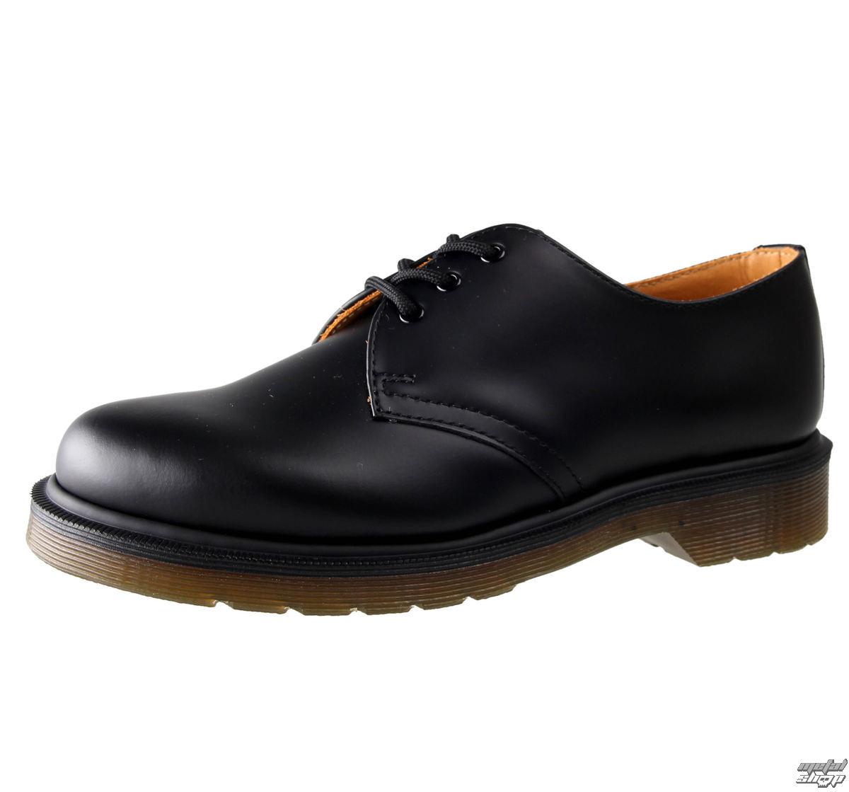 boty Dr. Martens - 3 dírkové - PW Black Smooth - 1461