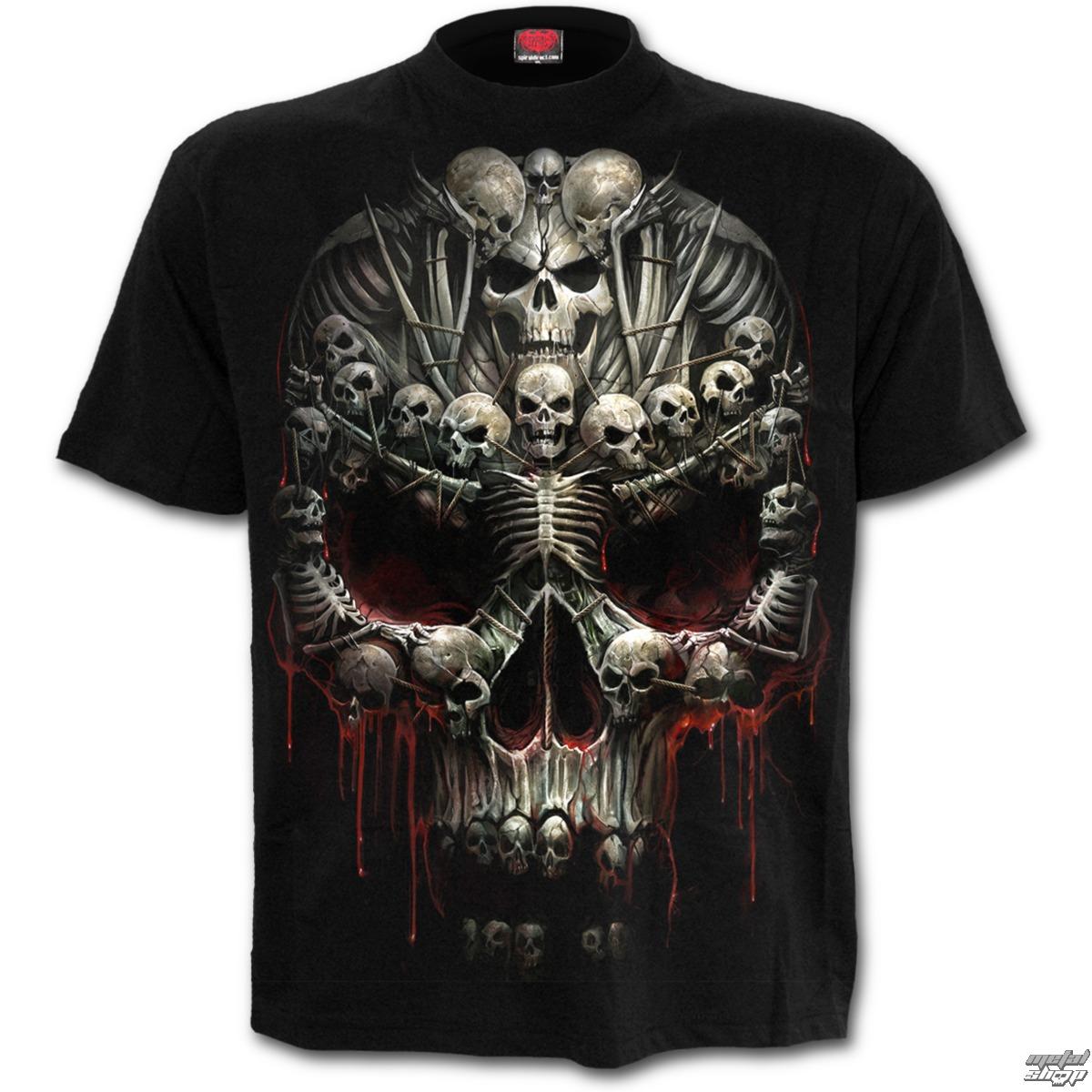 tričko pánské SPIRAL - Death Bones - Black - T126M101