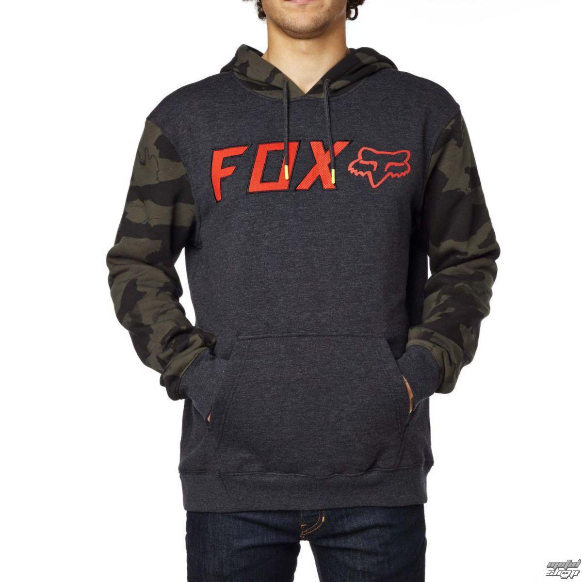 mikina pánská FOX - Diskors Fleece - Heather Black - 17473-243