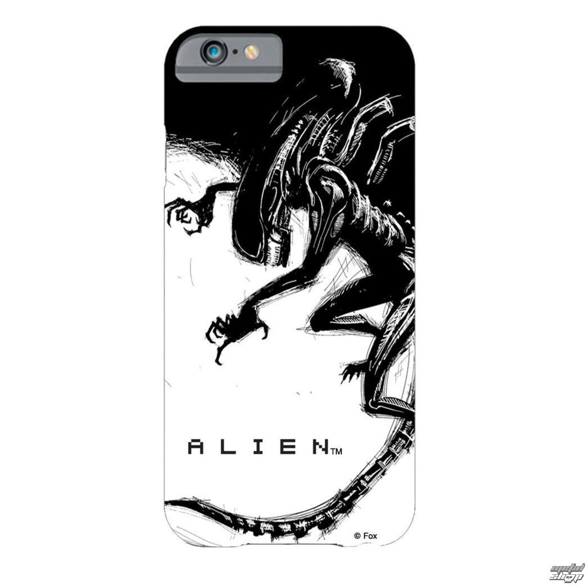 kryt na mobil Alien (Vetřelec) -  iPhone 6 Plus Xenomorph Black & White Comic