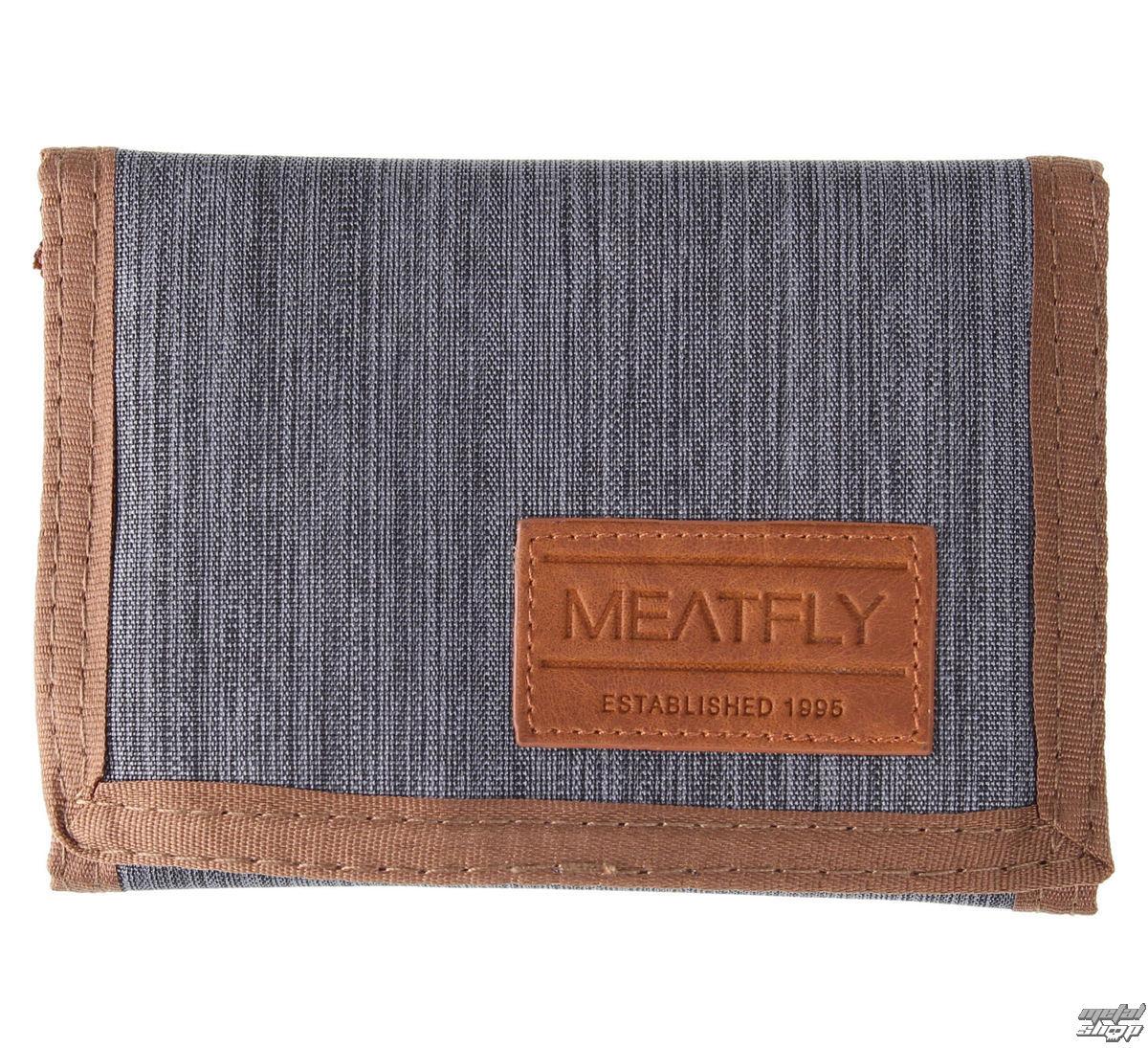 peněženka MEATFLY - Elite - B - Grey,Brown - MEAT042