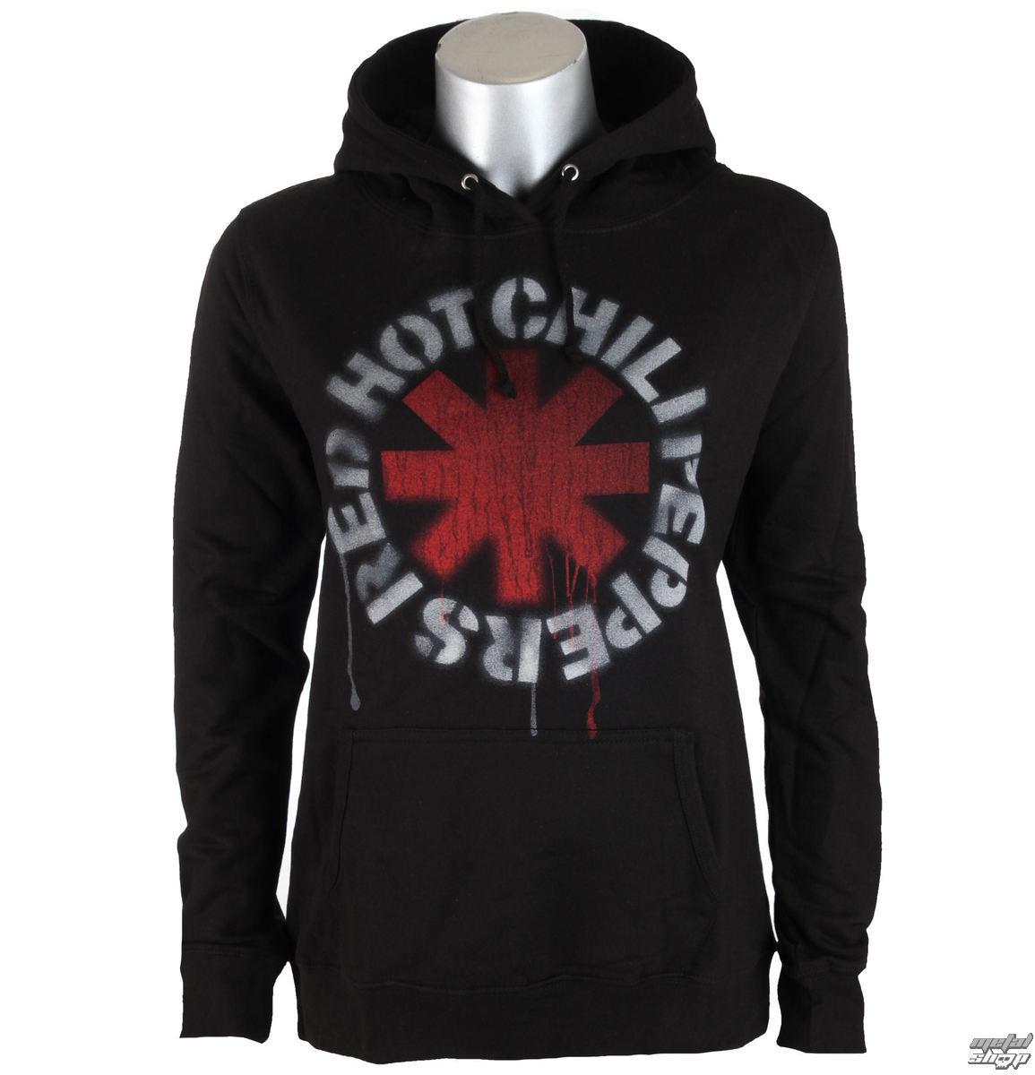 mikina dámská Red Hot Chili Peppers - Stencil Asterisk - Black - PRO032