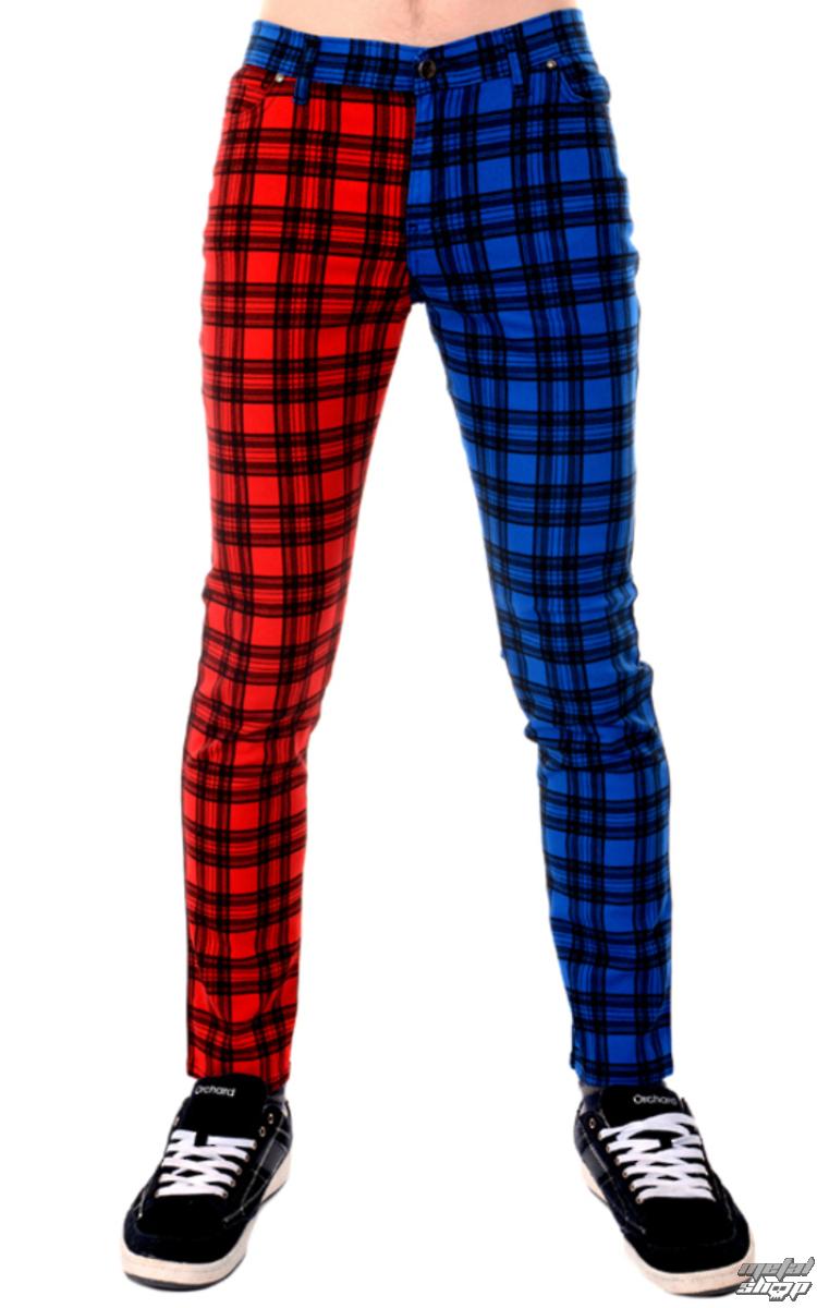 38d56abc10d2 kalhoty pánské 3RDAND56th - TARTAN SPLIT LEG - JM1250 - metalshop.cz