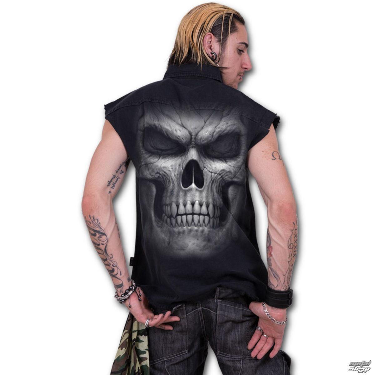 košile pánská bez rukávů SPIRAL - SHADOW MASTER - Black - T023M602