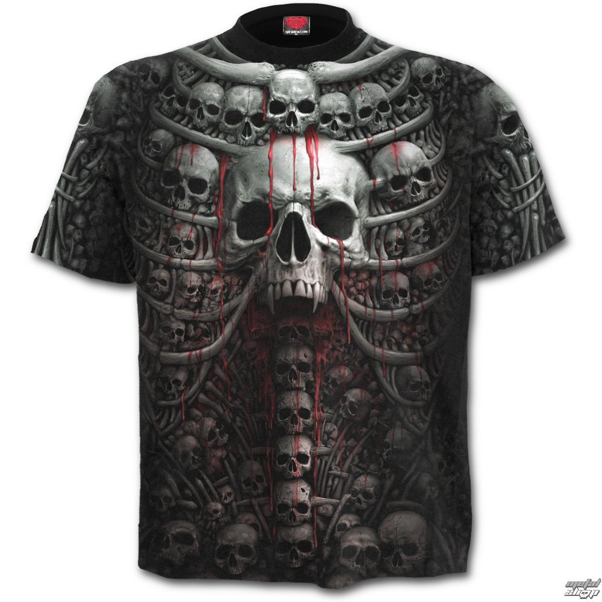 tričko pánské SPIRAL - DEATH RIBS - Black - W027M105