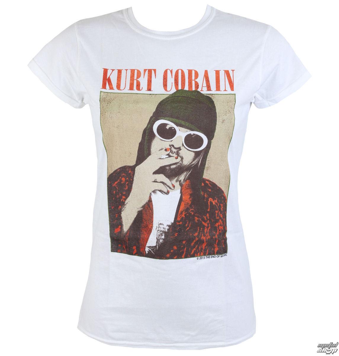 tričko dámské Nirvana - Kurt Cobain - Cigarette - PLASTIC HEAD - RTKCO0111