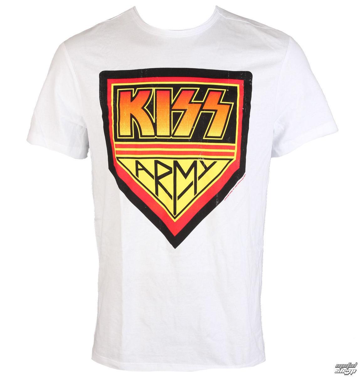 tričko pánské KISS - ARMY - WHITE - AMPLIFIED - av210KAD