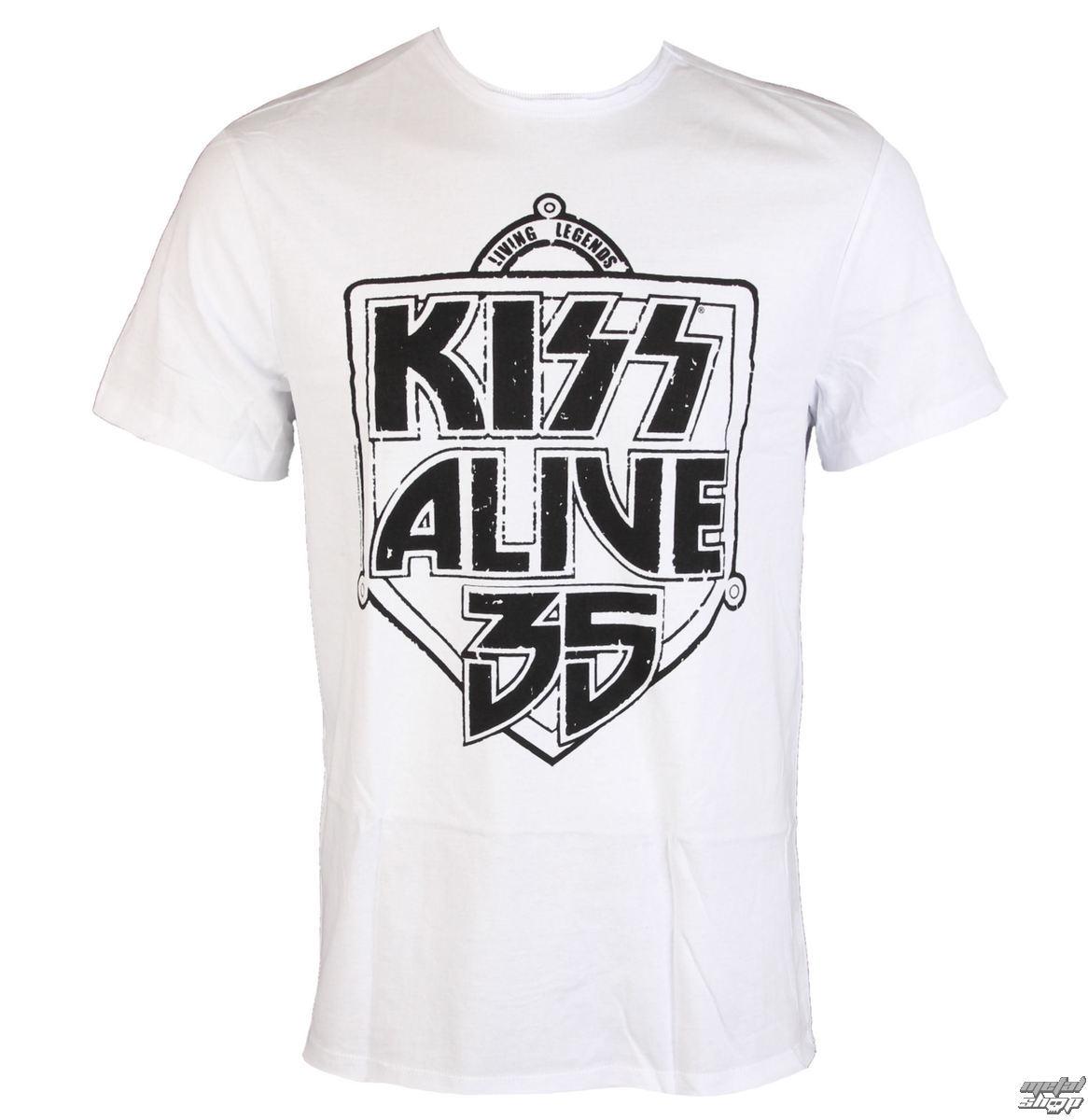 tričko pánské KISS - ALIVE 35 - WHITE - AMPLIFIED - av210K35