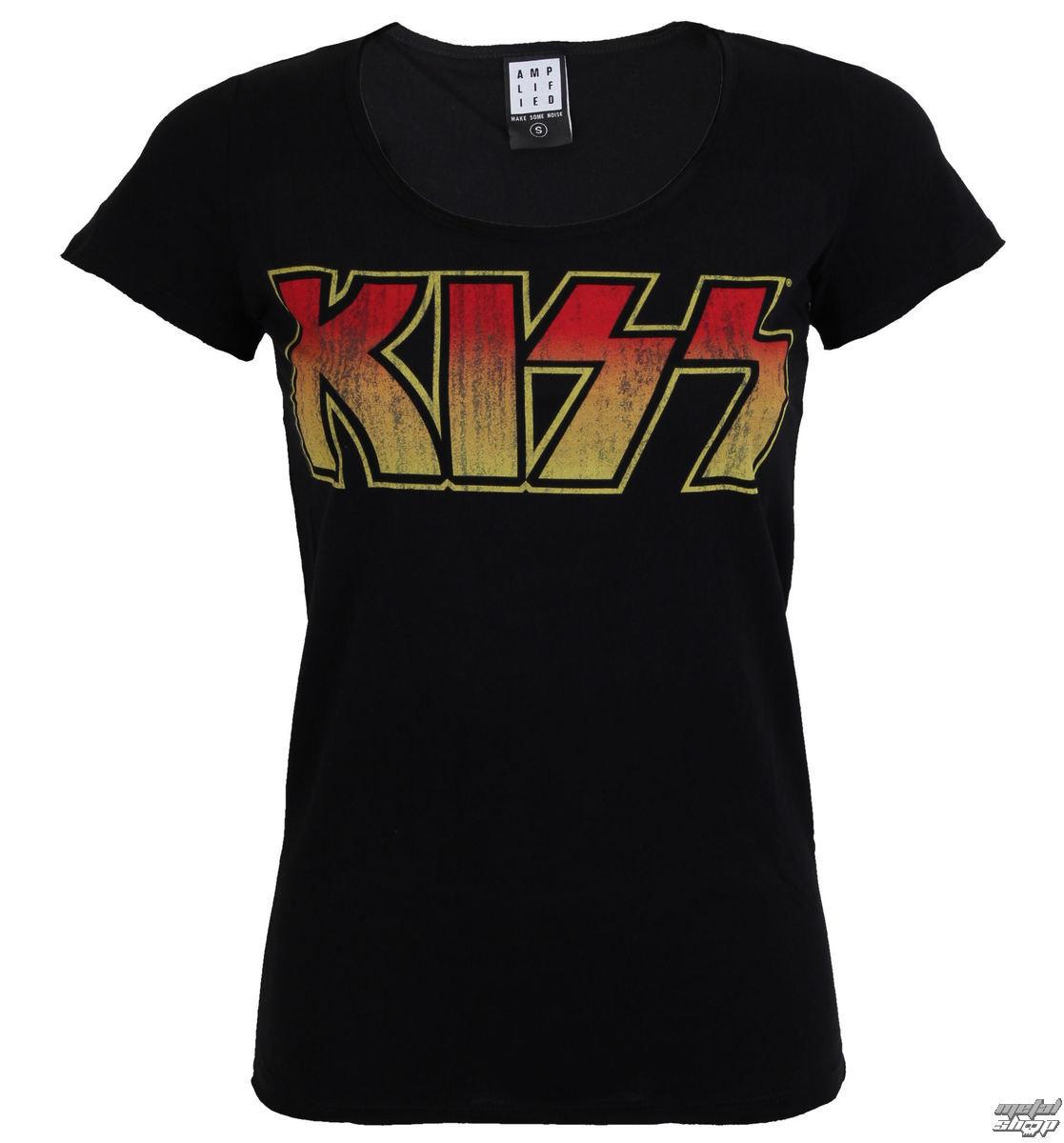tričko dámské KISS - CLASSIC LOGO DISTRESSED - AMPLIFIED - AV601DCL