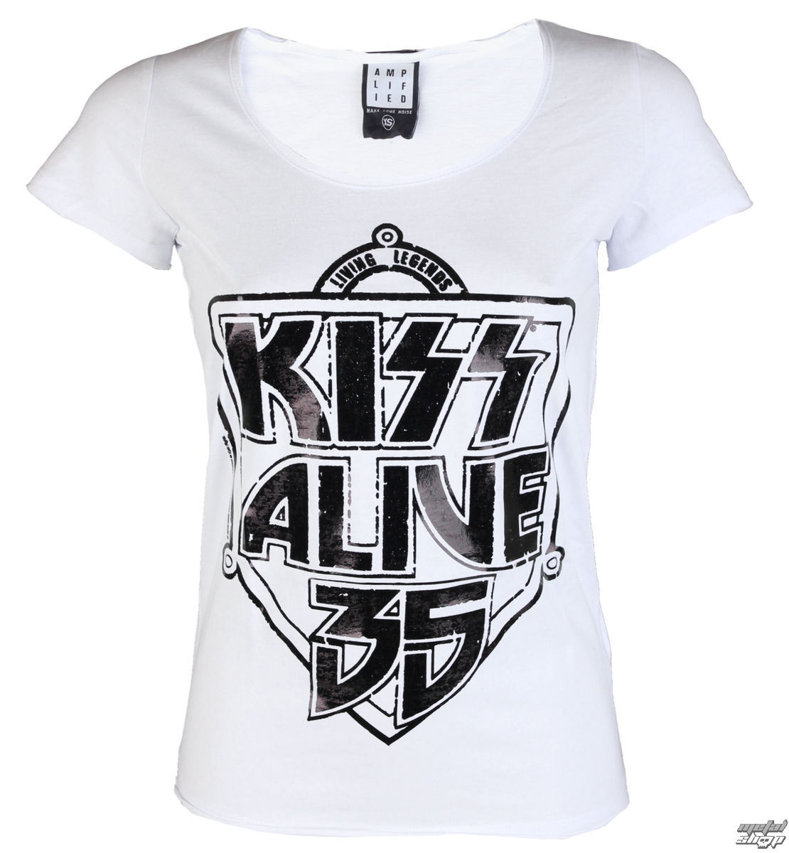 tričko dámské KISS - K 35 WHITE - AMPLIFIED - AV601K35
