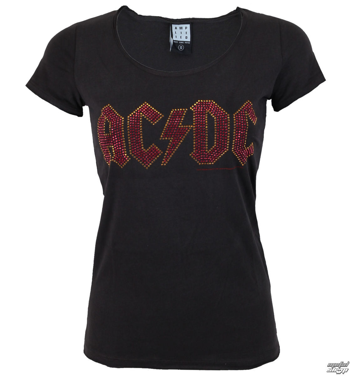 tričko dámské AC/DC - LOGO CHARCOAL RED - AMPLIFIED - AV601ACS